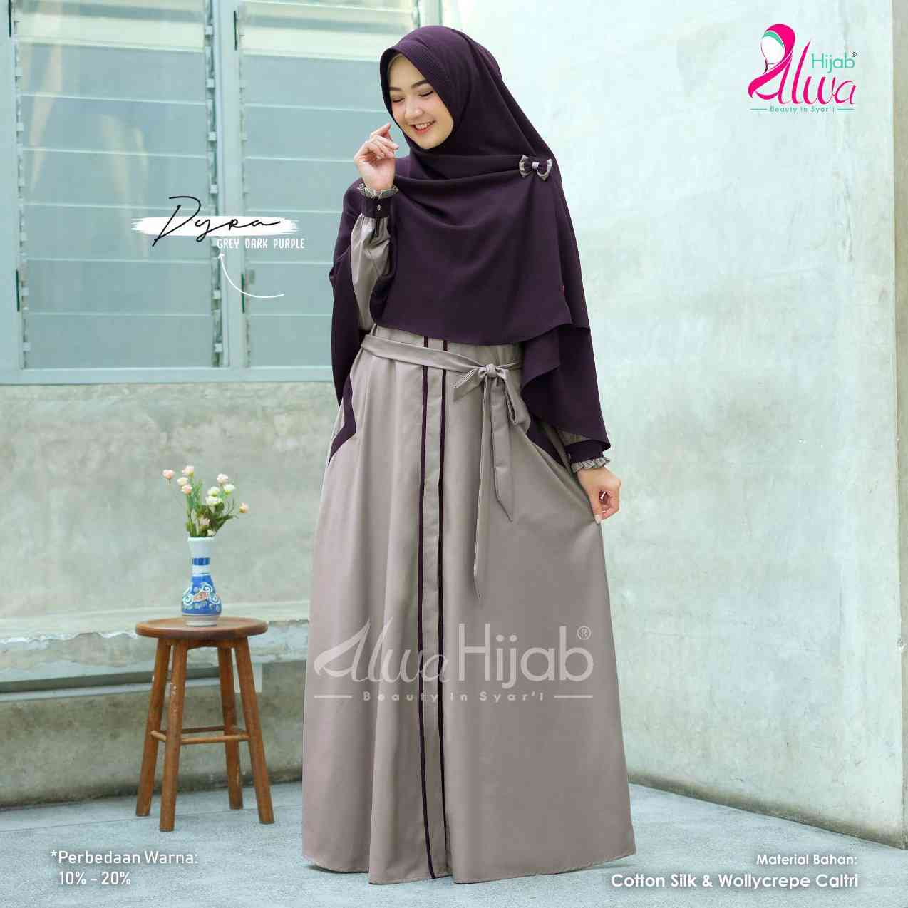 Gerai Olive Hijab Dyra Set By Alwa Hijab