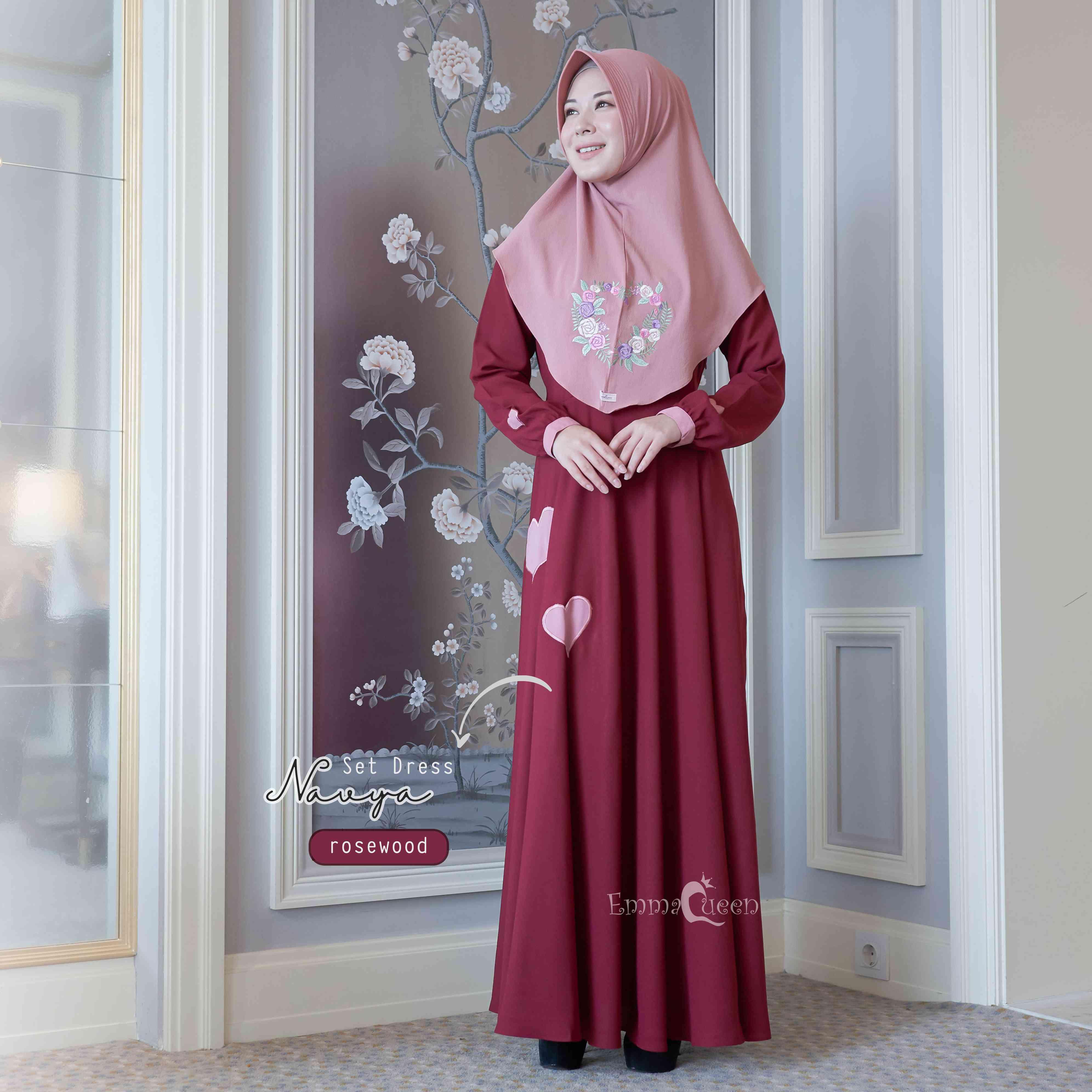 Ar Hijab Store Emmaqueen Navya Dress Set