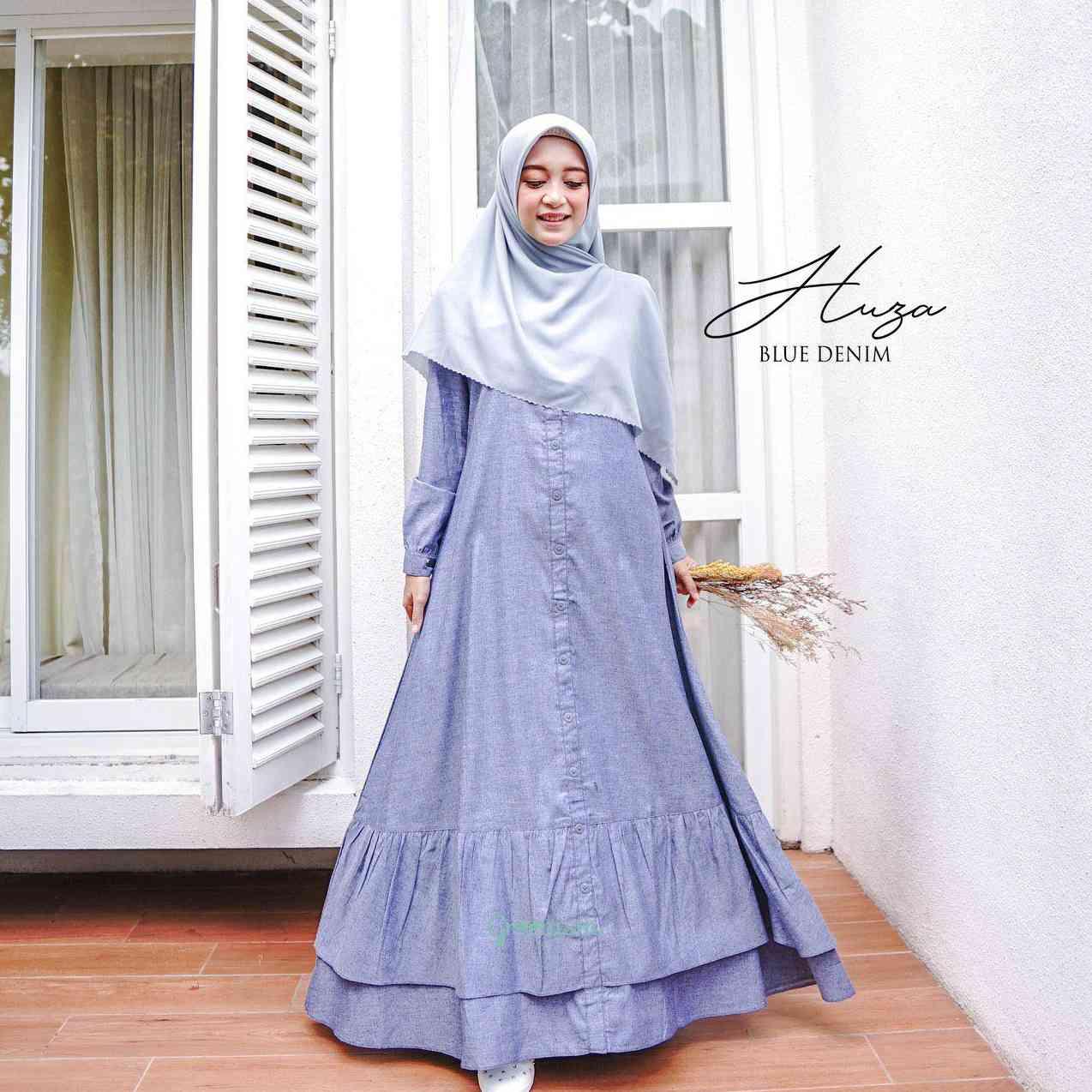 Gerai Olive Hijab Huza Dress By Greenism