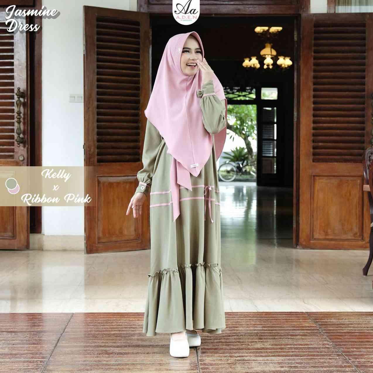 Gerai Olive Hijab Jasmine Set By Aden