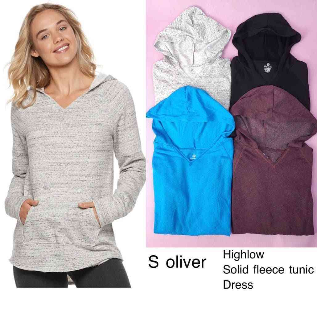 official images newest collection fresh styles RiejuFashion   P741 S oliver high low solid fleece tunic ...