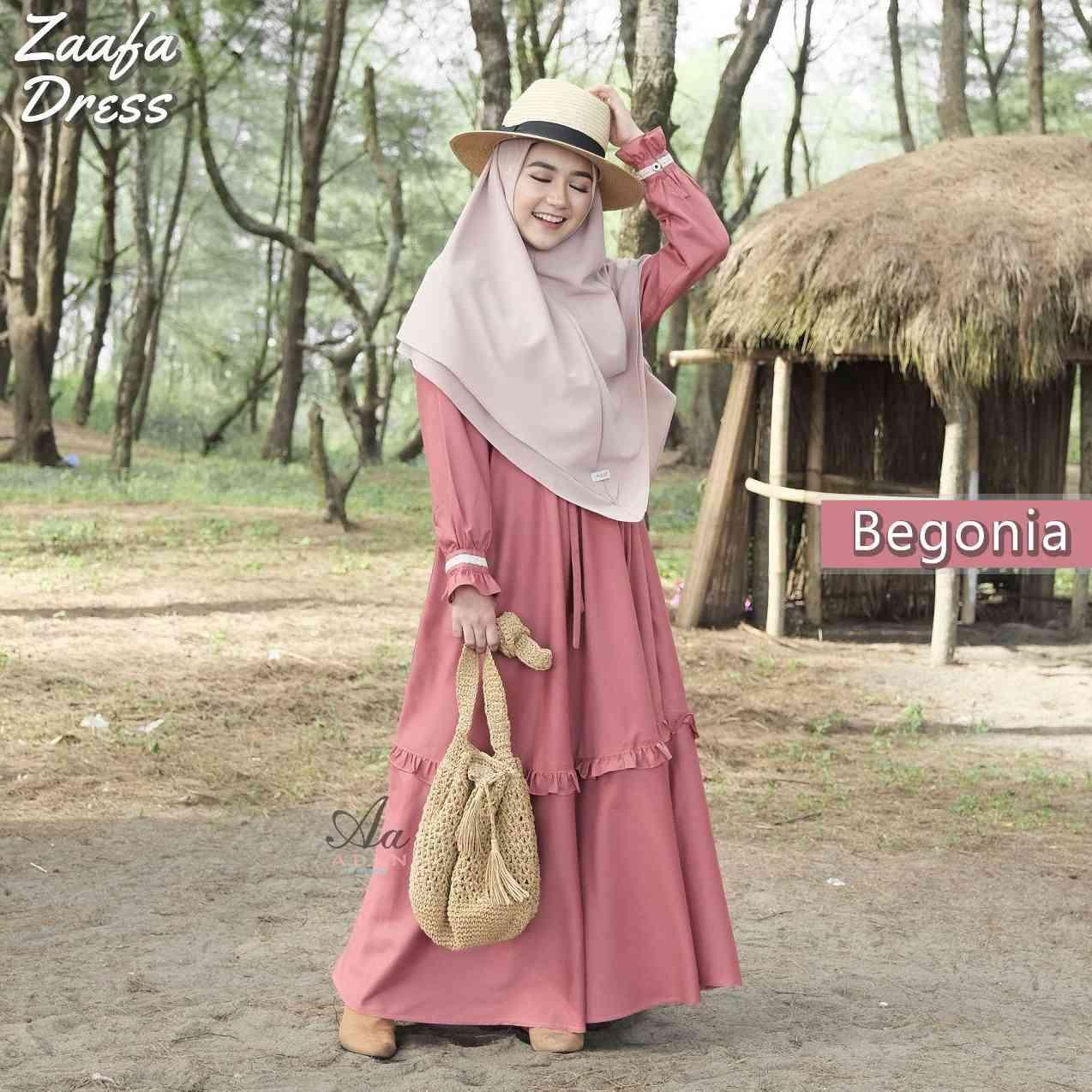 Gerai Olive Hijab Zaafa Dress By Aden